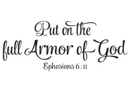 Black and white - full armour of God