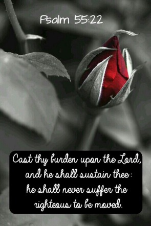 Psalm 55 22 Cast thy burden red